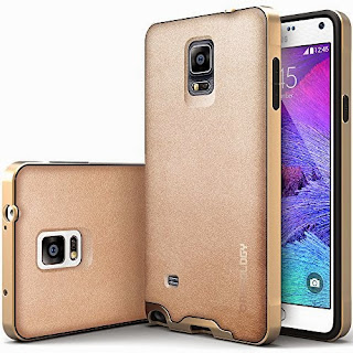 Galaxy Note 4 case, Caseology® [Envoy Series] [Copper Gold] Premium Leather Bumper Cover [Leather Bound] Samsung Galaxy Note 4 case