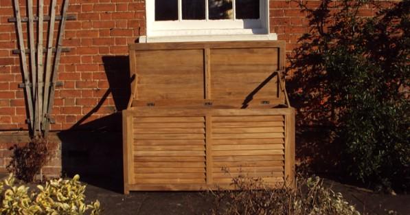 Teak Wooden Storage Box 1.5M & Wheelie Bin Covers Recycling and Wheelie Bins News: Outdoor Storage ...