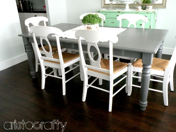 Aristocrafty painted tables for Painted kitchen table ideas
