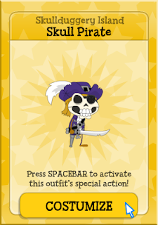 How can you get the Skull Pirate costume?
