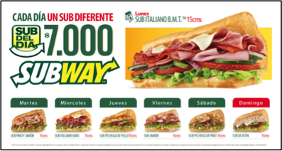 Food truck q bacano empresas competidoras for Subway colombia
