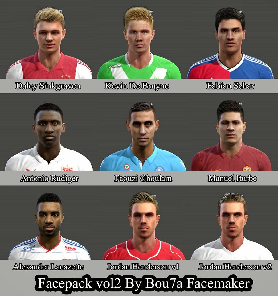 PES 2013 Facepack Vol.2 by Bou7a Facemaker