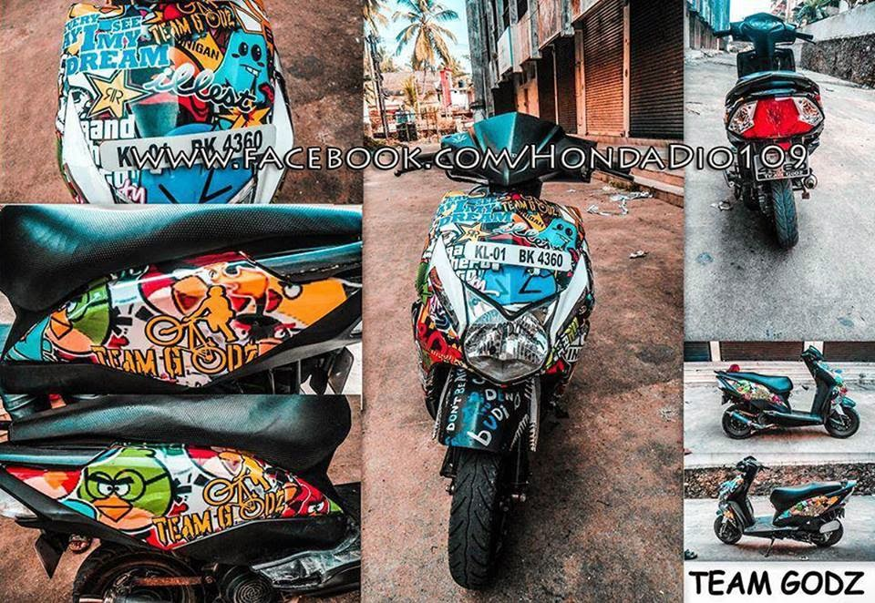 honda dio modified graphics galleryhip     the hippest galleries