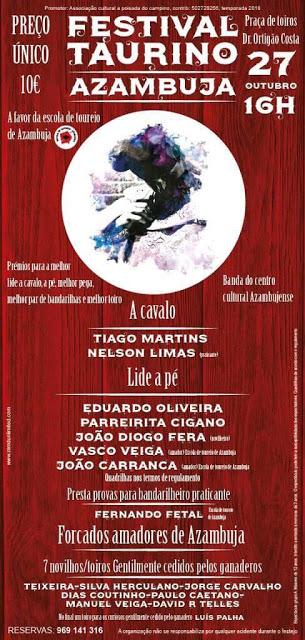 AZAMBUJA (PORTUGAL) 27-10-2018. FESTIVAL TAURINO.