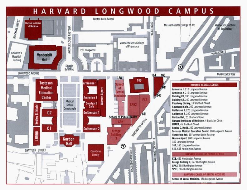 Harvard Law School Campus Map