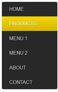 free css vertical menu bar