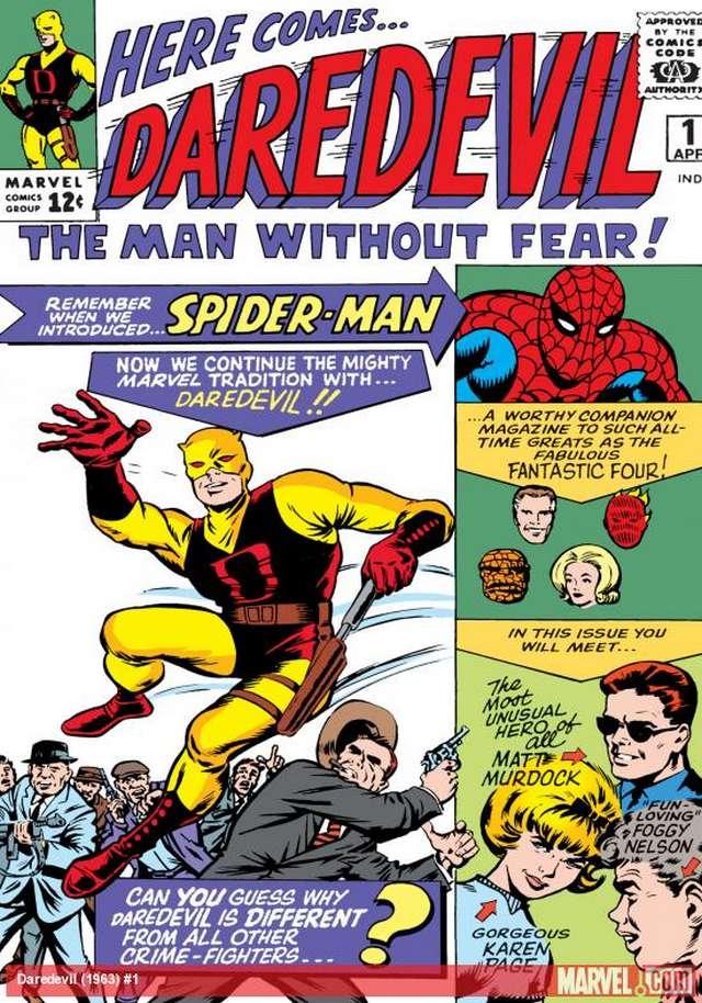 Tapa del primer comic de Daredevil (1964)