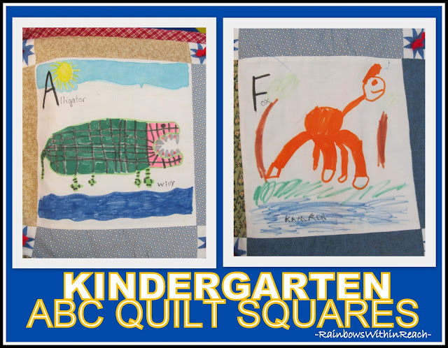 photo of: Kindergarten ABC Quilt Squares via RainbowsWithinReach
