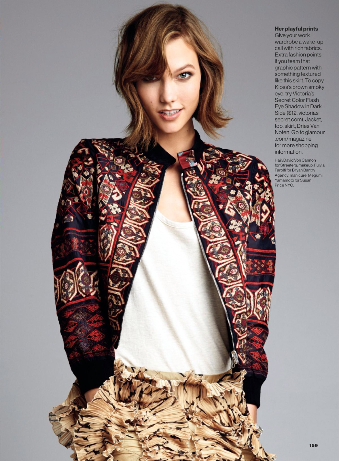 Magazine Photoshoot : Karlie Kloss Photoshot For Glamour Magazine US February 2014 Issue