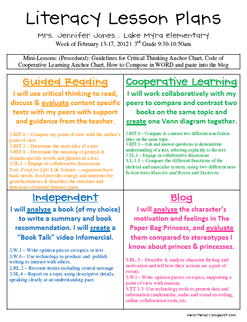 Informational Literacy Unit Hello Literacy