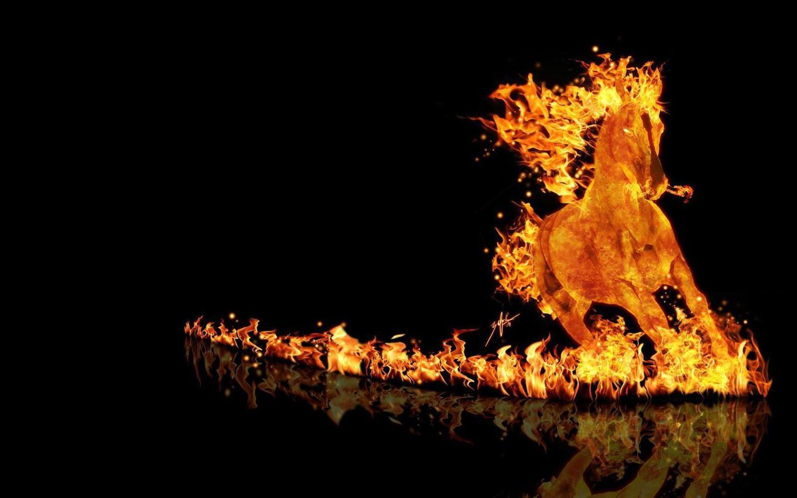 лошадь огненная картинки