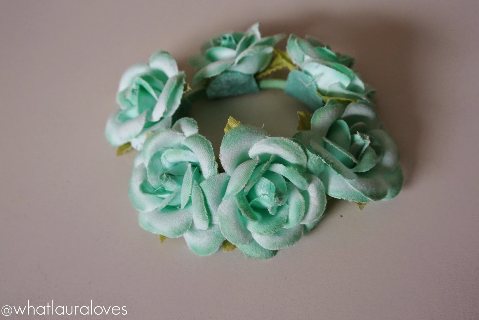 mint flower bun ring Primark