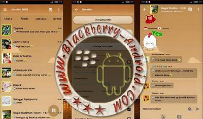 Aplikasi BBM Mod Tema Simple Brown V2.9.0.45 Apk Terbaru