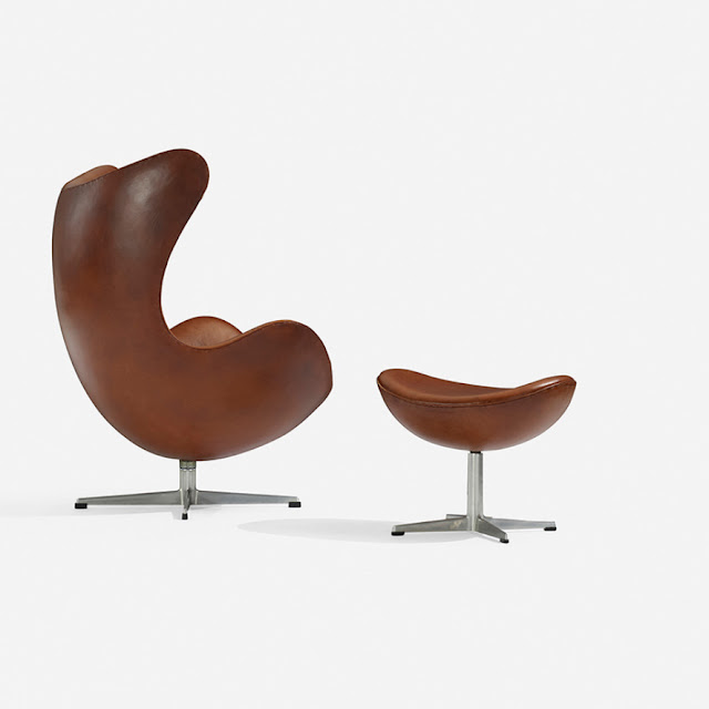 fritz hansen arne jacobsen egg chair 1958 leather. Black Bedroom Furniture Sets. Home Design Ideas