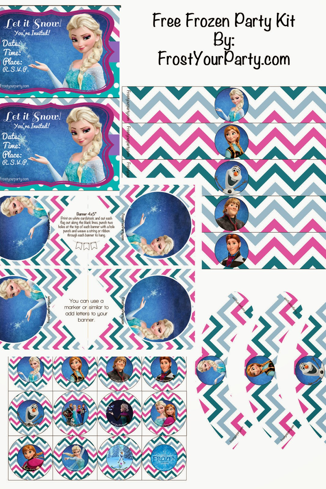 Frozen Movie Centerpieces The Disney Frozen Movie