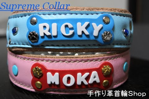 犬の革首輪Shop Supreme Collar