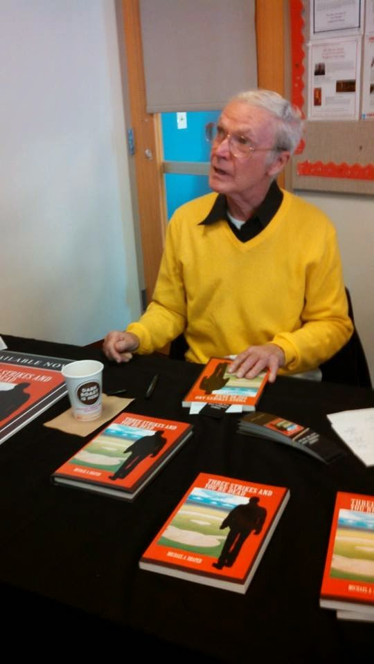 Mike at book signing
