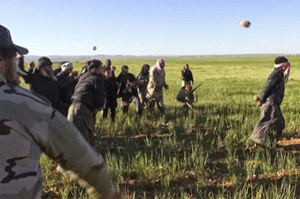 Islamic State has reportedly stoned a man to death in front of dozens of civilians east of Homs 'for being gay'