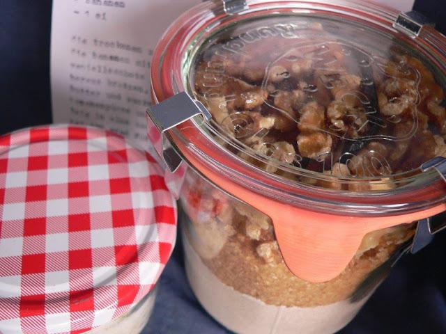 Brot Salz Einzug Geschenk Bergmann Bier Weckglas Rezept Brotbackmischung selbermachen DIY