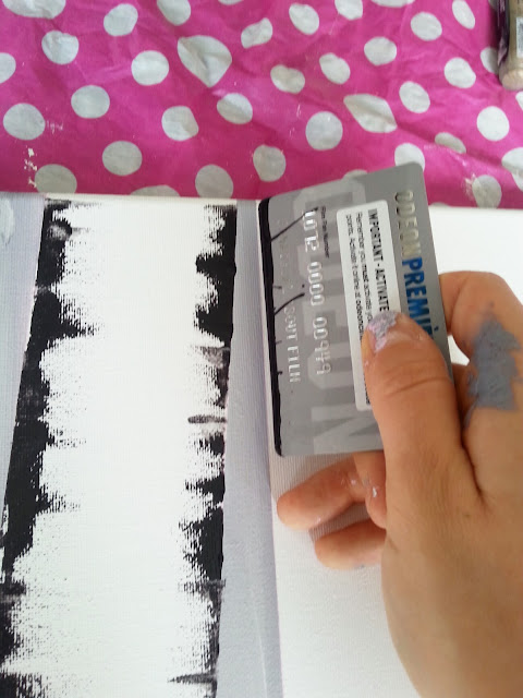 diy birch tree forest painting