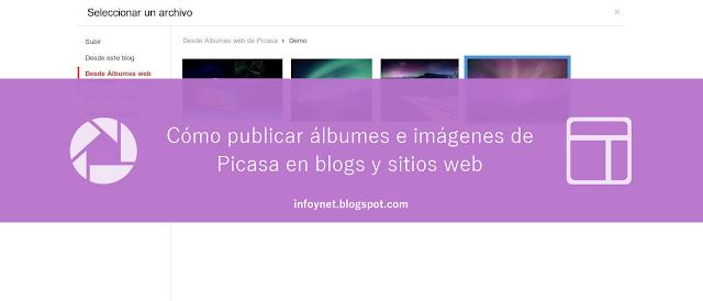 Cómo publicar álbumes e imágenes de Picasa en blogs y sitios web