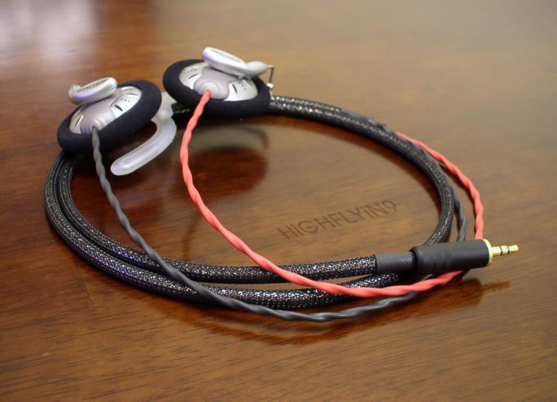 Vlastný kábel pre sluchátka