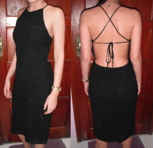 Vestidos preto longuete