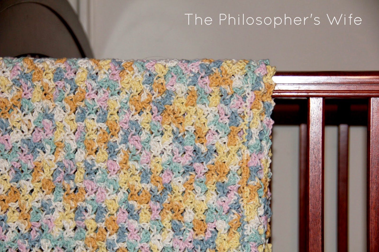 The Philosophers Wife: Crochet Shell Stitch Baby Blanket ...