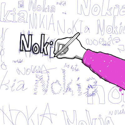 Hand drawing different typefaces for Nokia