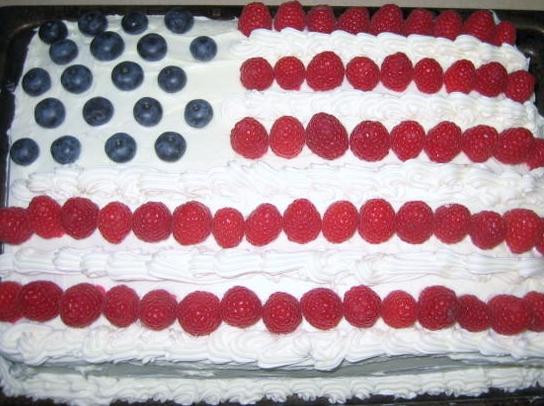 Big Bettie cakes: Flag Cake