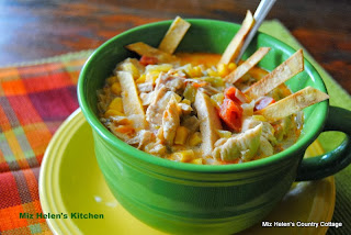 Southwest Chicken Soup from Miz Helen's Country Cottage