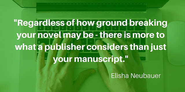 Regardless of how ground breaking your novel may be - there is more to what a publisher considers than just your manuscript.