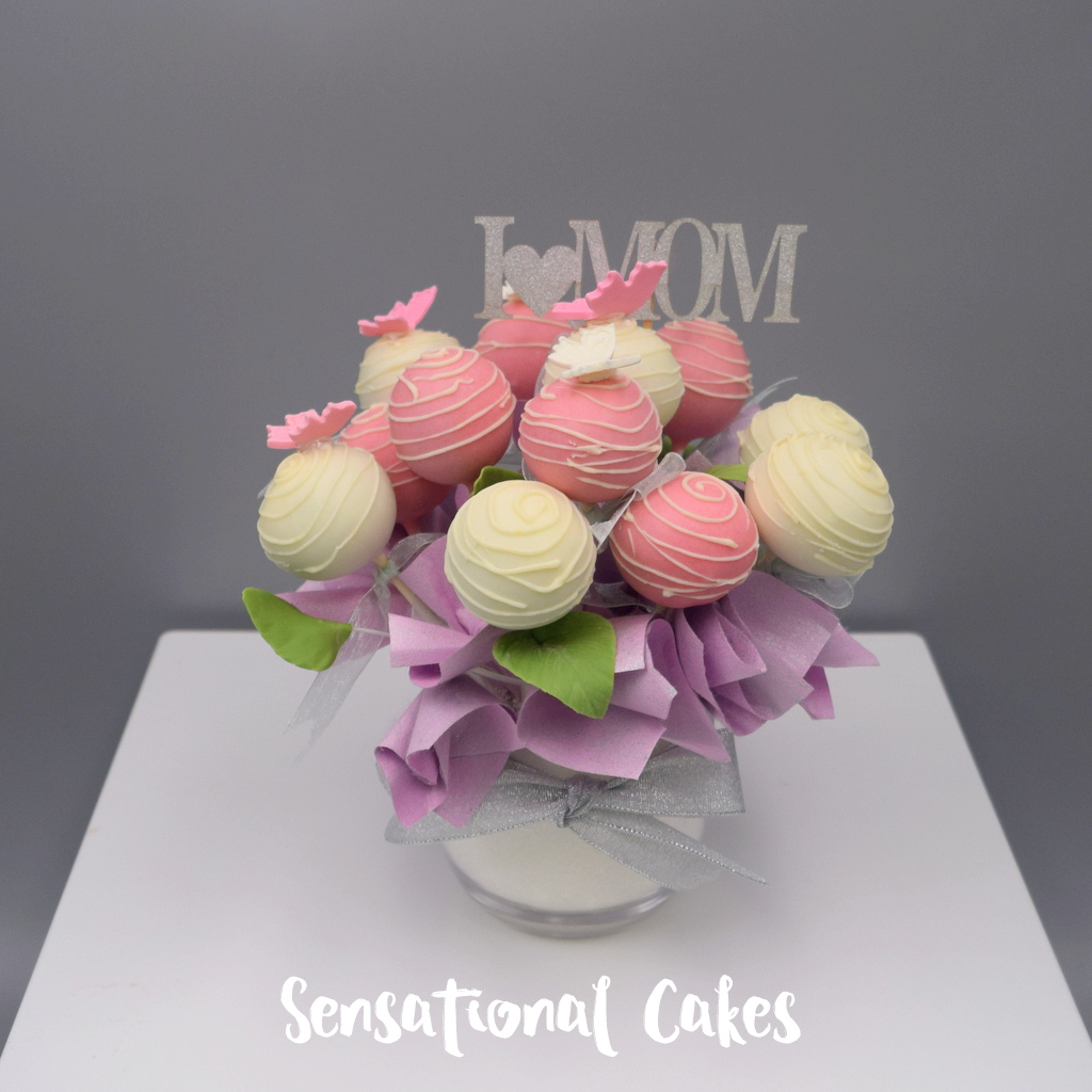 The Sensational Cakes Special Cake Pop Bouquet For Mothers Day