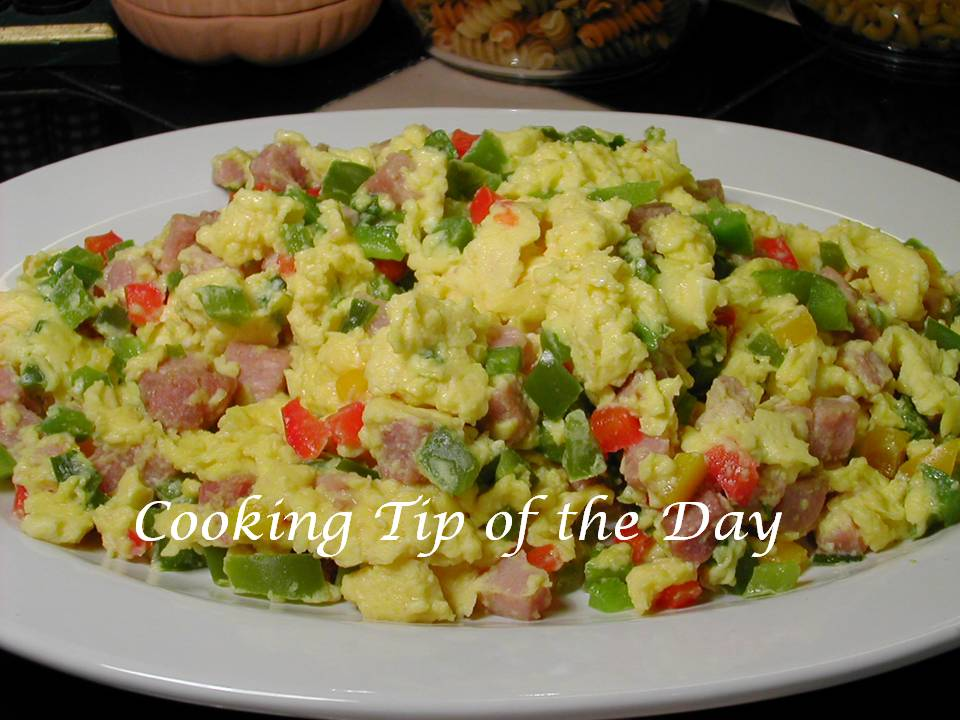 Cooking Tip of the Day: Recipe: Scrambled Denver Eggs