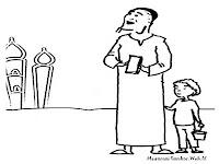Adi Dan Kakek Pergi Kemasjid Untuk Shalat Idul Fitri