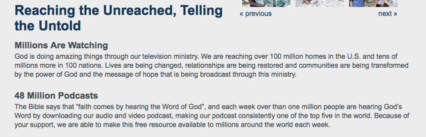 Reaching the Unreached, Telling the Untold / Joel Osteen Ministries 2-2-2014 by BeckyCharms