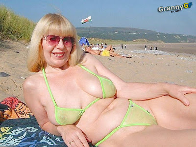 classy mature on the beach