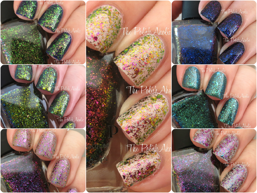The PolishAholic: ILNP Ultra Chrome Flakies Swatch & Review Part 2