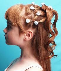 peinados de nenas para primera comunin con tiara trenza