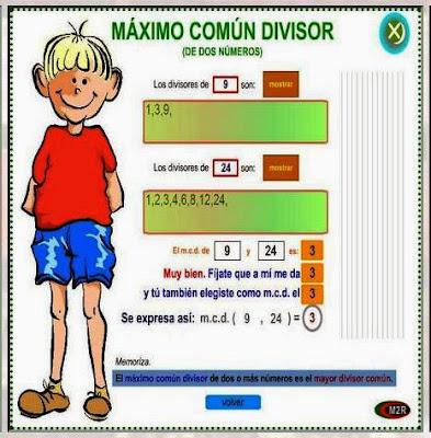 http://www.gobiernodecanarias.org/educacion/3/WebC/eltanque/todo_mate/multiplosydivisores/mcd/mcd_p.html
