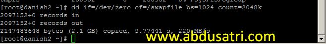 cara menambah RAM VPS