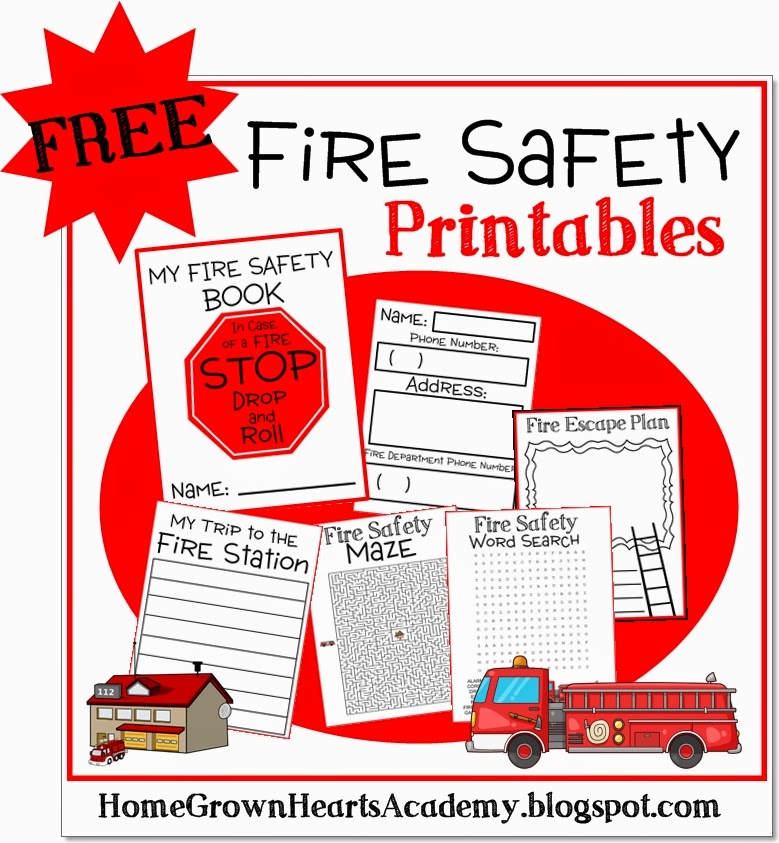 Home grown hearts academy homeschool blog fire prevention for Fire safety house