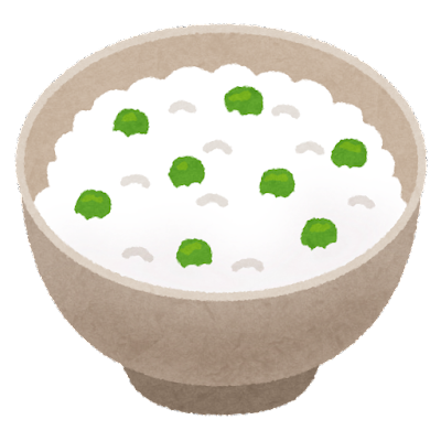豆ごはんのイラスト
