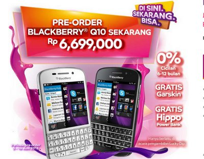 Harga Bundling Blackberry Q10 AXIS