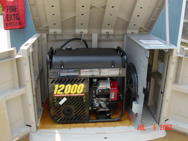 Emergency Generators Shelters : Say it all portable generator shelter