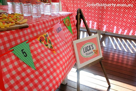 pizza party decorations for kids check tablecloths party bunting diy party styling