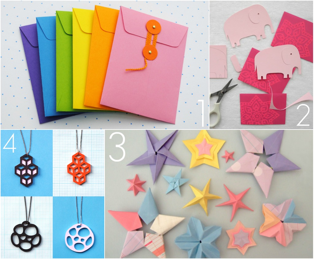 Omiyage blogs diy pretty paper projects for Paper art projects