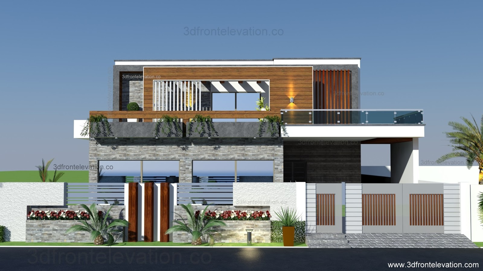 Front Elevation Renovations : D front elevation home remodeling and renovation of