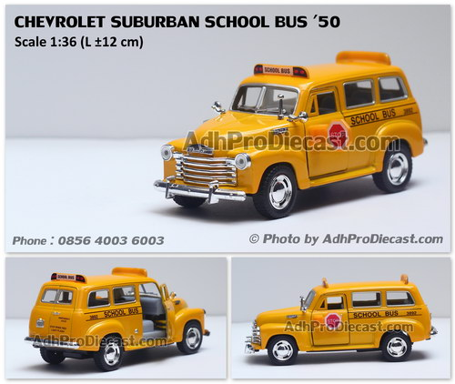 Adhpro tomtomo miniatur chevrolet suburban school bus 39 50 yellow 36