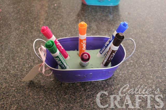 dry erase markers in foam